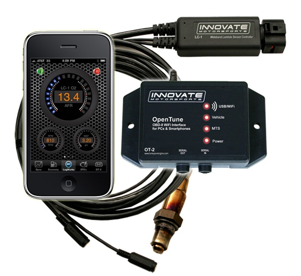 Innovate OT-2/LC-1 Kit: OBD-II & Wideband AFR WiFi Interface