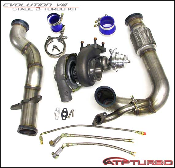EVO8 600Hp Stage 3 Turbo Kit GT35R